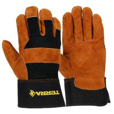 Leather Mechanics/Utility Medium Work Gloves