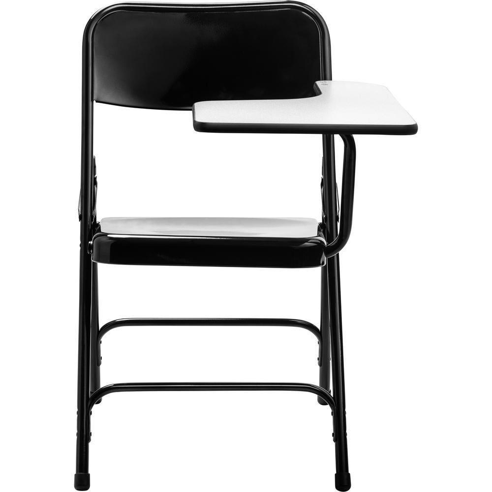 5200 Series Tablet Arm 18-Gauge Steel Folding Chair, Grey Nebula Left Arm, Black Chair (2-Pack)
