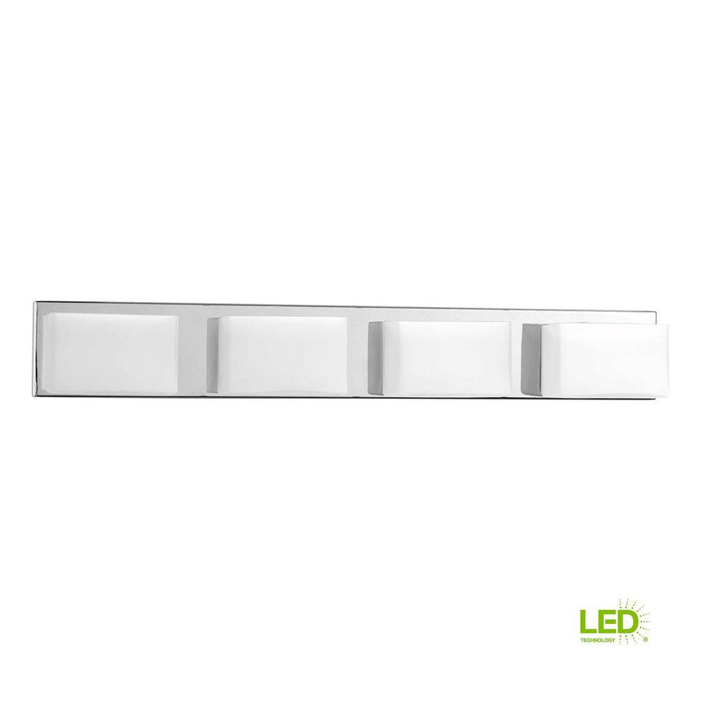 led bathroom vanity lights toilet wall progress lighting ace collection 4light polished chrome integrated led bathroom vanity light with glass