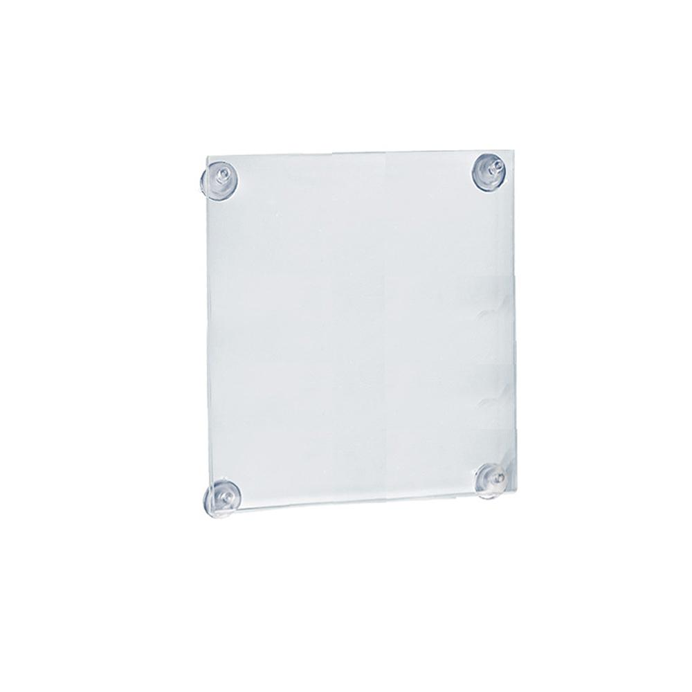 """8.5/"""" x 5.5/"""" Double Sided Window Sign Holder Mounted with Suction Cups"""