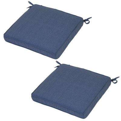 Hampton Bay Solid Welted Outdoor Chair Cushions Outdoor