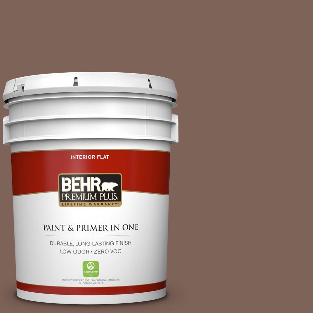 5 gal. #BNC-23 Almond Truffle Zero VOC Flat Interior Paint