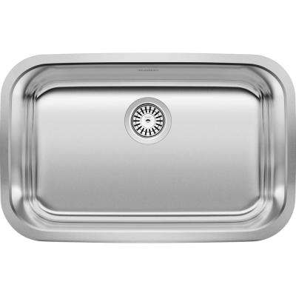 STELLAR Undermount Stainless Steel 28 in. Single Bowl ADA Kitchen Sink