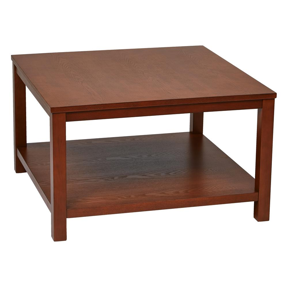 Cherry Coffee Table.Merge 30 In Cherry Square Coffee Table