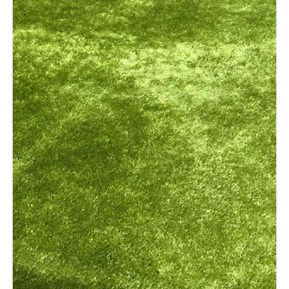 """Amazing Rugs """"Fuzzy Shaggy"""" Hand Tufted Area Rug In Lime"""