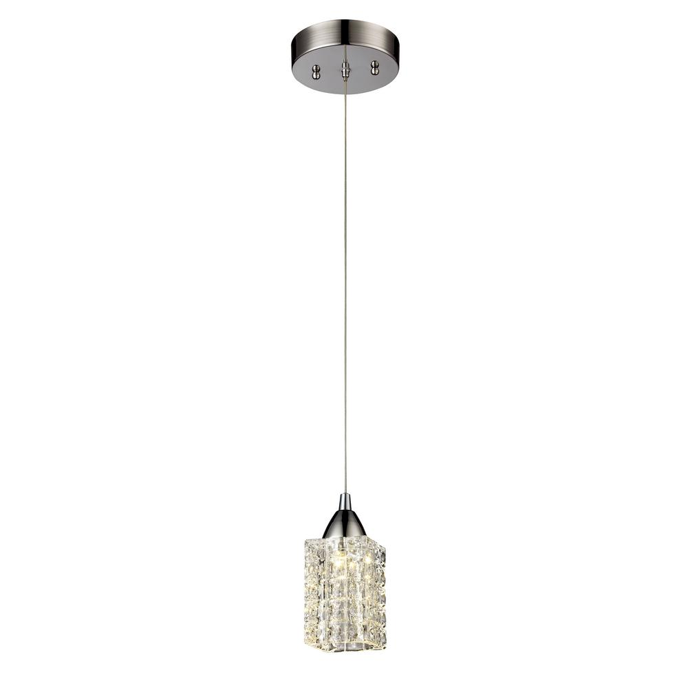 Home Decorators Collection 7 Light Chrome Pendant With Woven Laser Cut Crystal Rectangular Shade