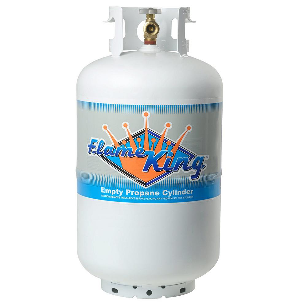 30 lb. Empty Propane Cylinder with Overfill Protection Device Valve