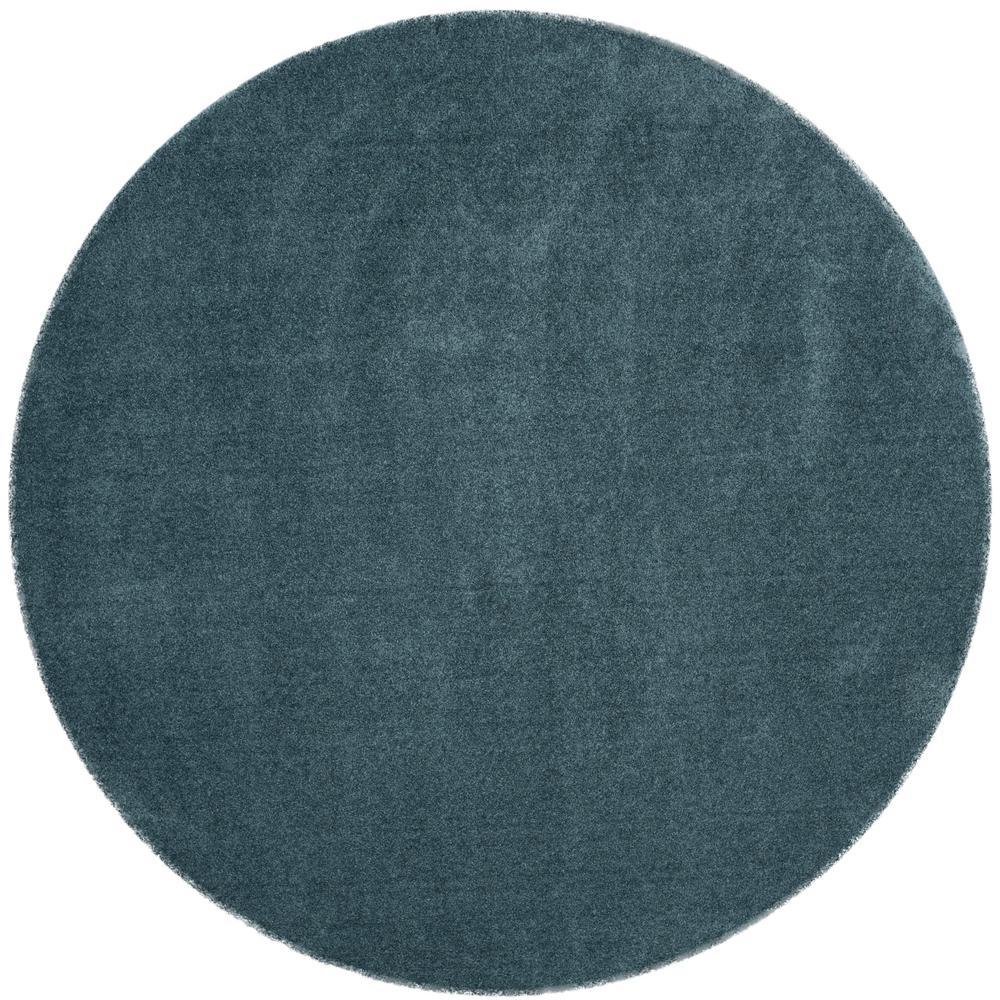 Light Blue Round Area Rug Safavieh Velvet 7 Ft X