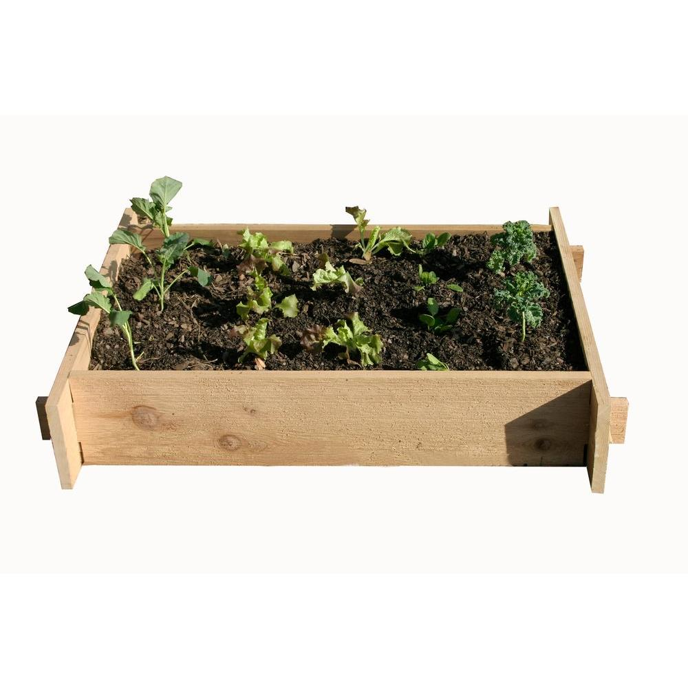 null 2 Ft. x 3 Ft. Shaker Style Raised Garden Planter Box-DISCONTINUED