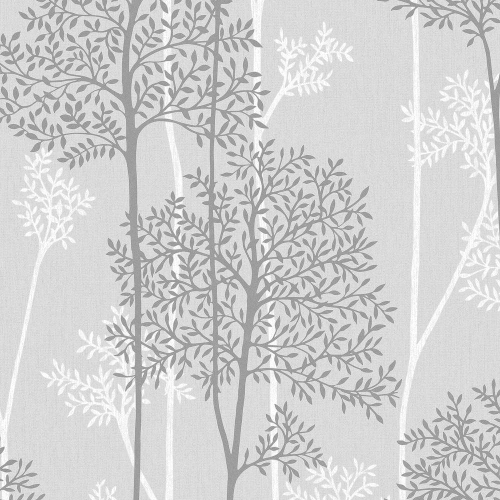 Eternal Gray Vinyl Strippable Wallpaper (Covers 56 sq. ft.)
