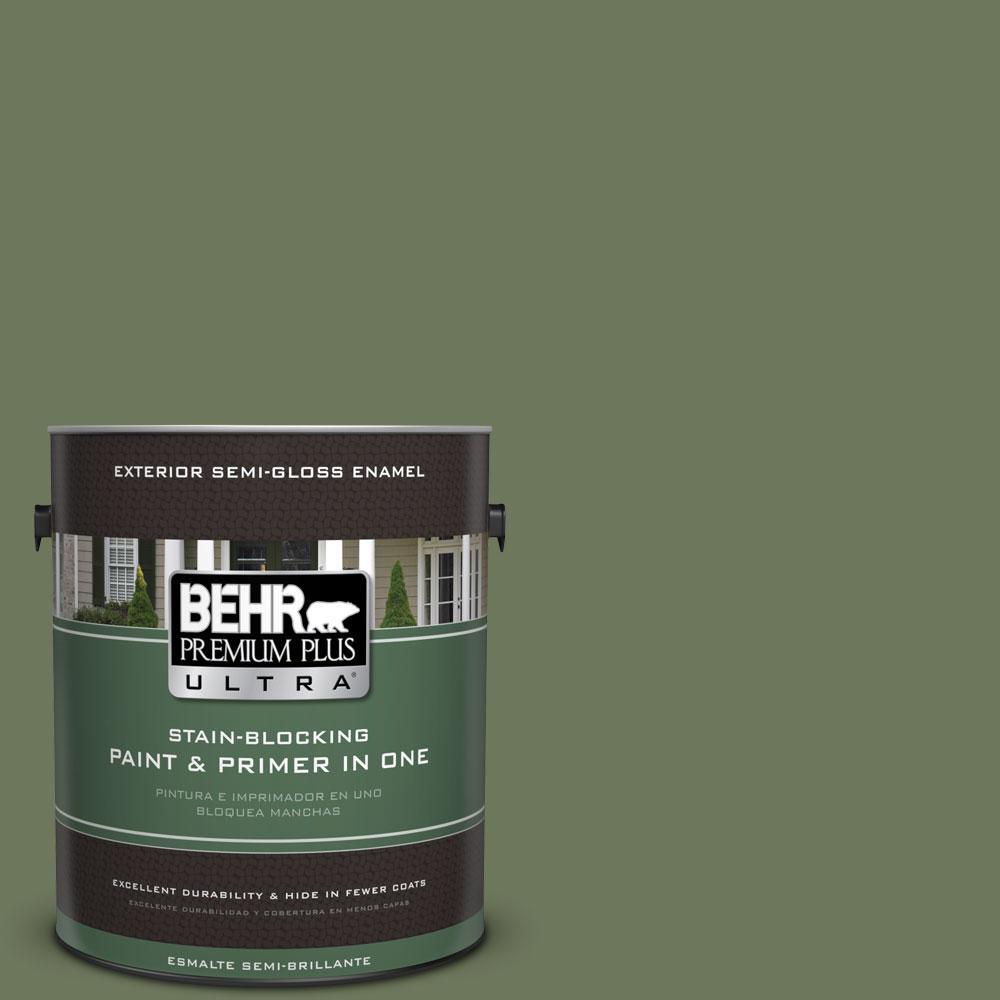 BEHR Premium Plus Ultra 1-gal. #420F-6 Egyptian Nile Semi-Gloss Enamel Exterior Paint