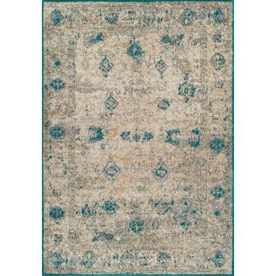 Noble 1 Persian Teal 7 ft. 10 in. x 10 ft. 7 in. Area Rug