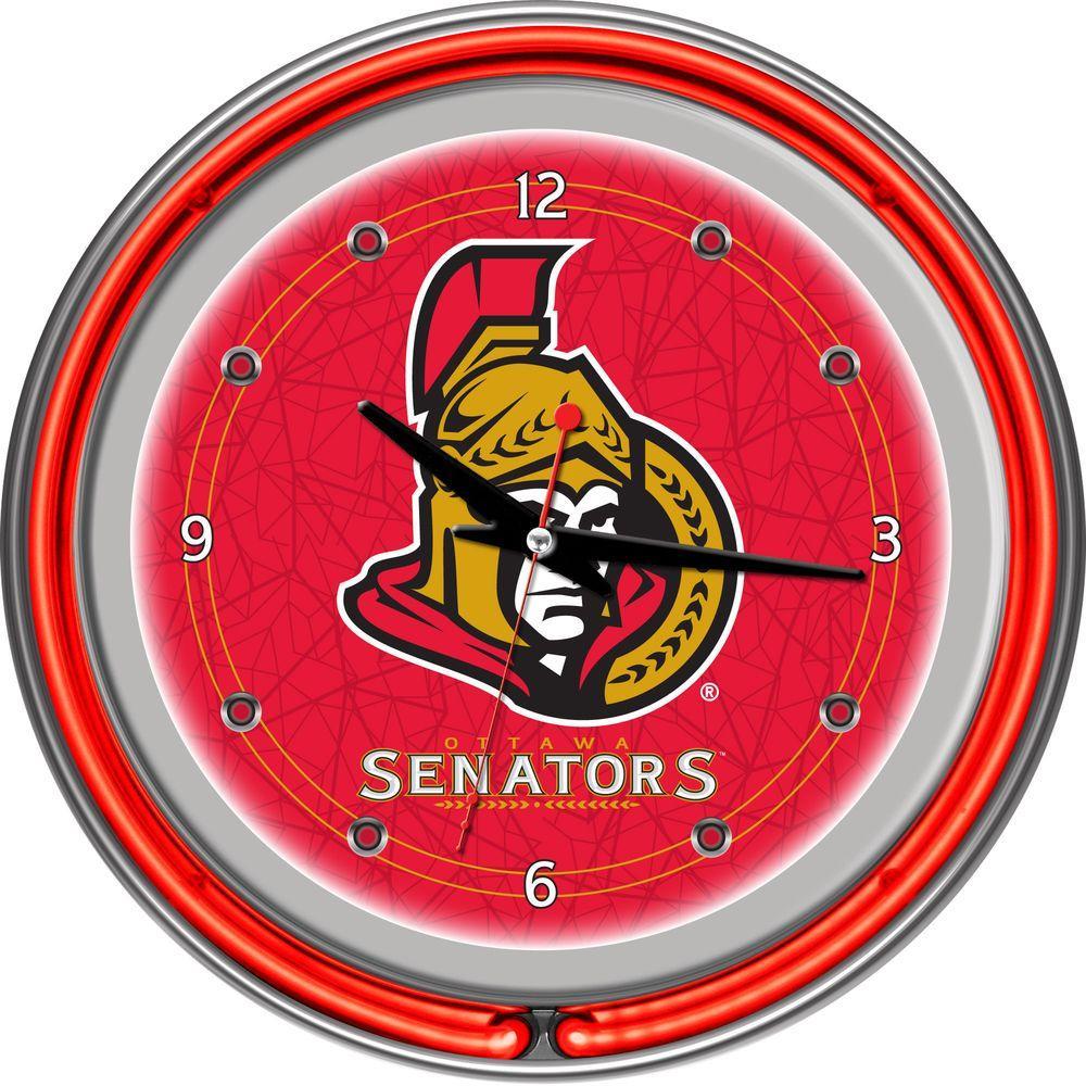 Trademark 14 in. Ottawa Senators NHL Neon Wall Clock