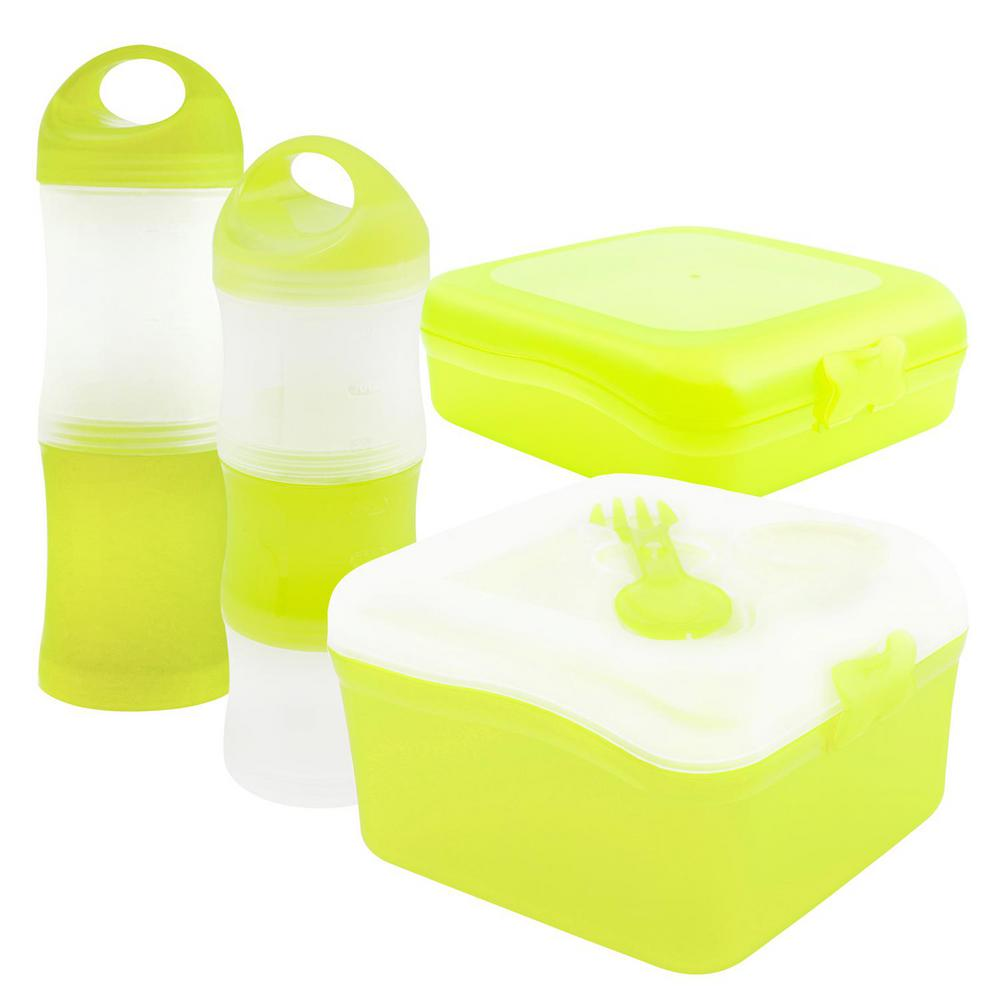 Keeplit Keep Go 4 Piece Food Storage Container Assorted Pack In Perfect Portions 14 Pcs 7 Set Kontainer Lime