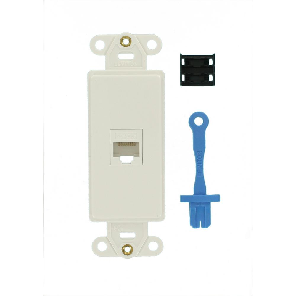 decora cat5e data insert outlet white