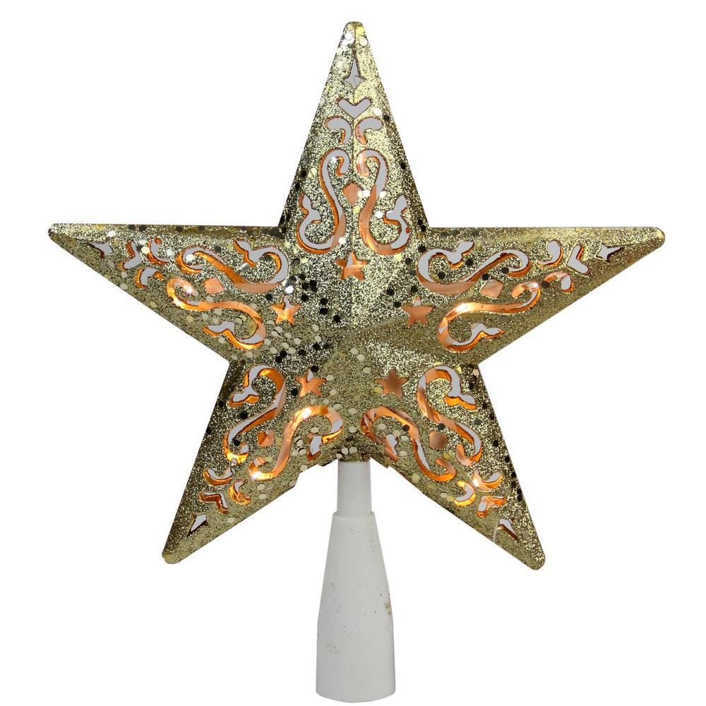 Northlight 8.5 in. Gold Glitter Star Cut-Out Design ...