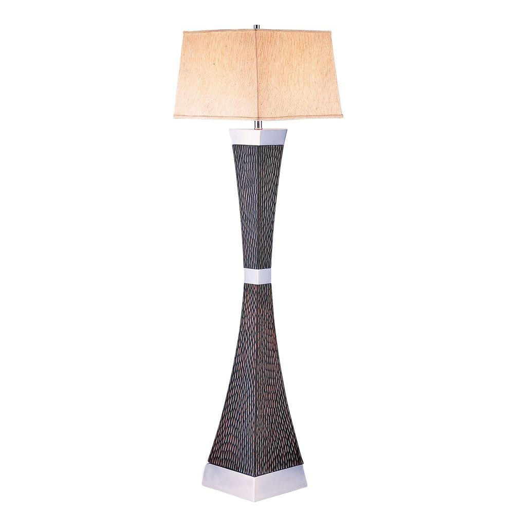 ORE International 60.5 in. Dark Brown Floor Lamp