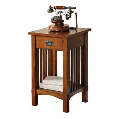 Antique Oak Valencia IV Traditional Telephone Stand