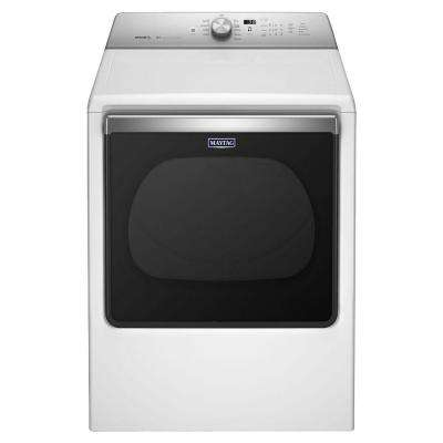 8.8 cu. ft. 120-Volt White Gas Vented Dryer with Advanced Moisture Sensing