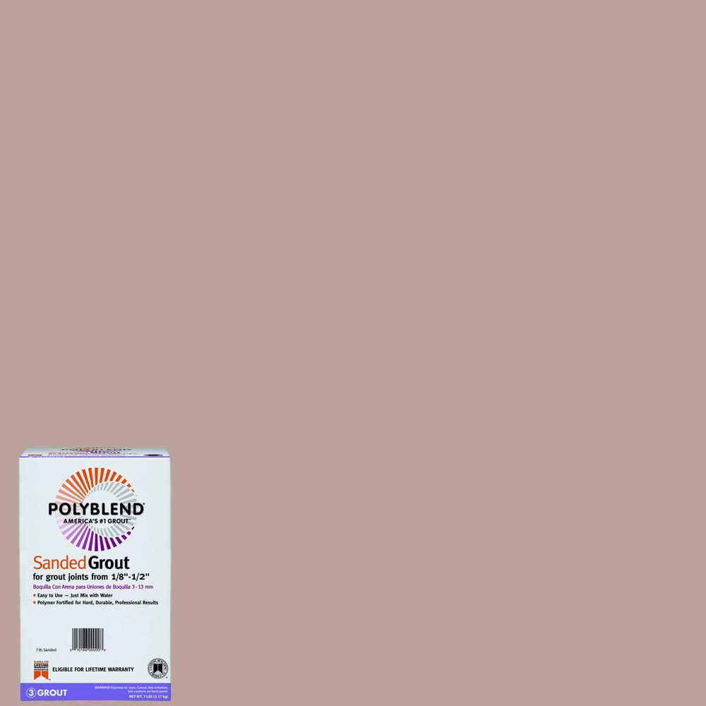 Custom Building Products Polyblend #390 Rose Beige 7 lb. Sanded Grout