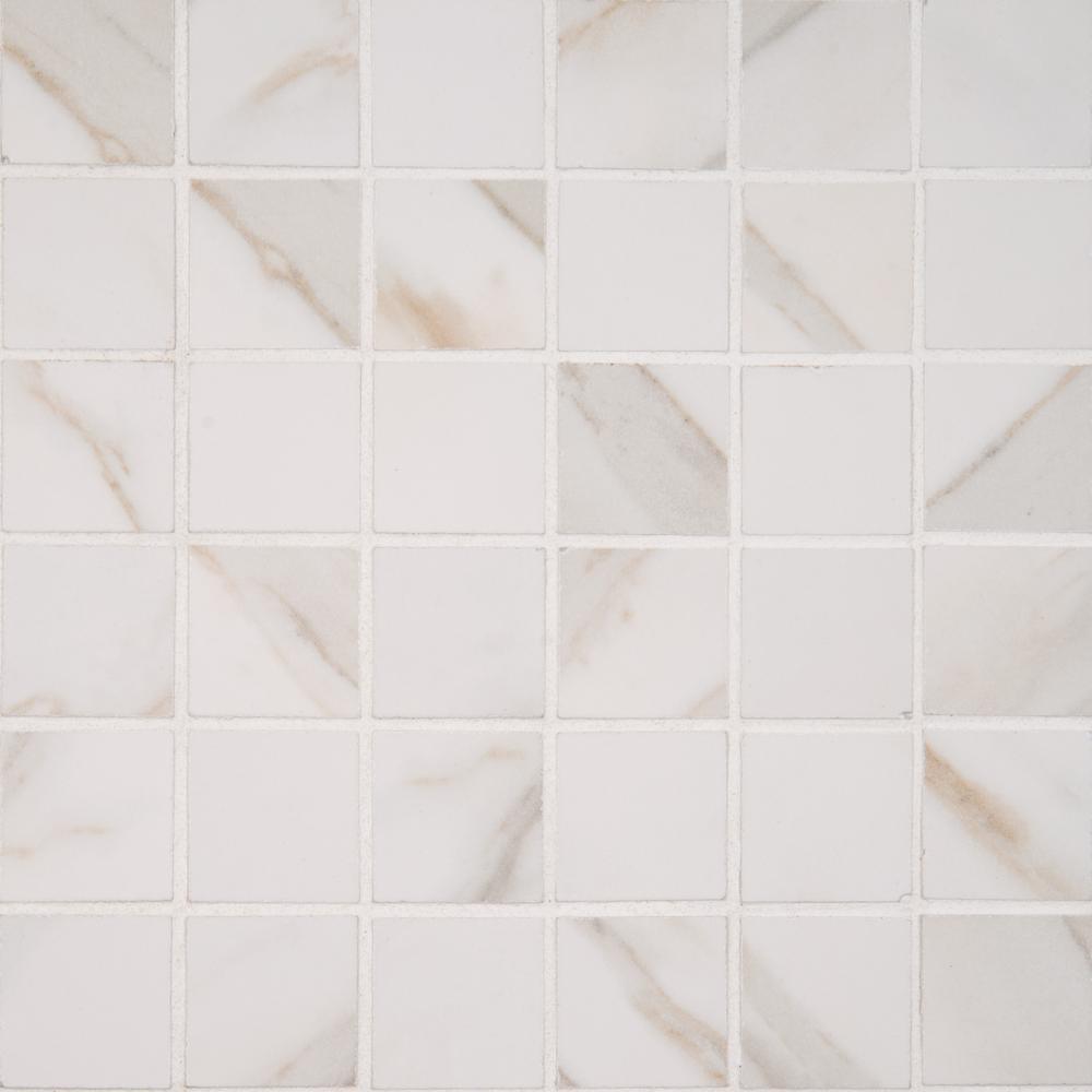 Msi Calacatta Ivory 12 In X 10mm Polished Porcelain Mesh