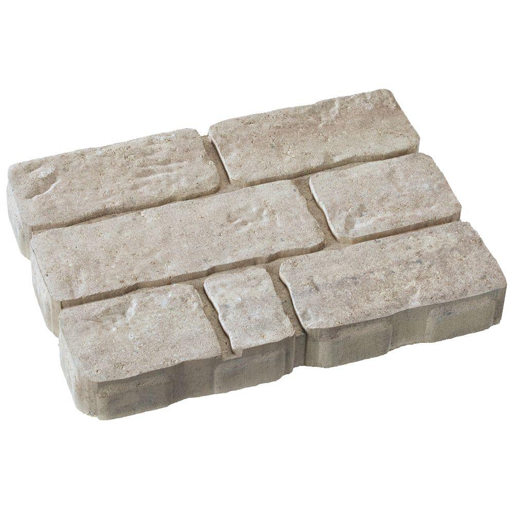 Perfect This Review Is From:Rockford Stone 12 In. X 16 In. Cotswold Mist Light  Gray/Tan Concrete Step Stone (112 Pieces / 149 Sq. Ft. / Pallet)