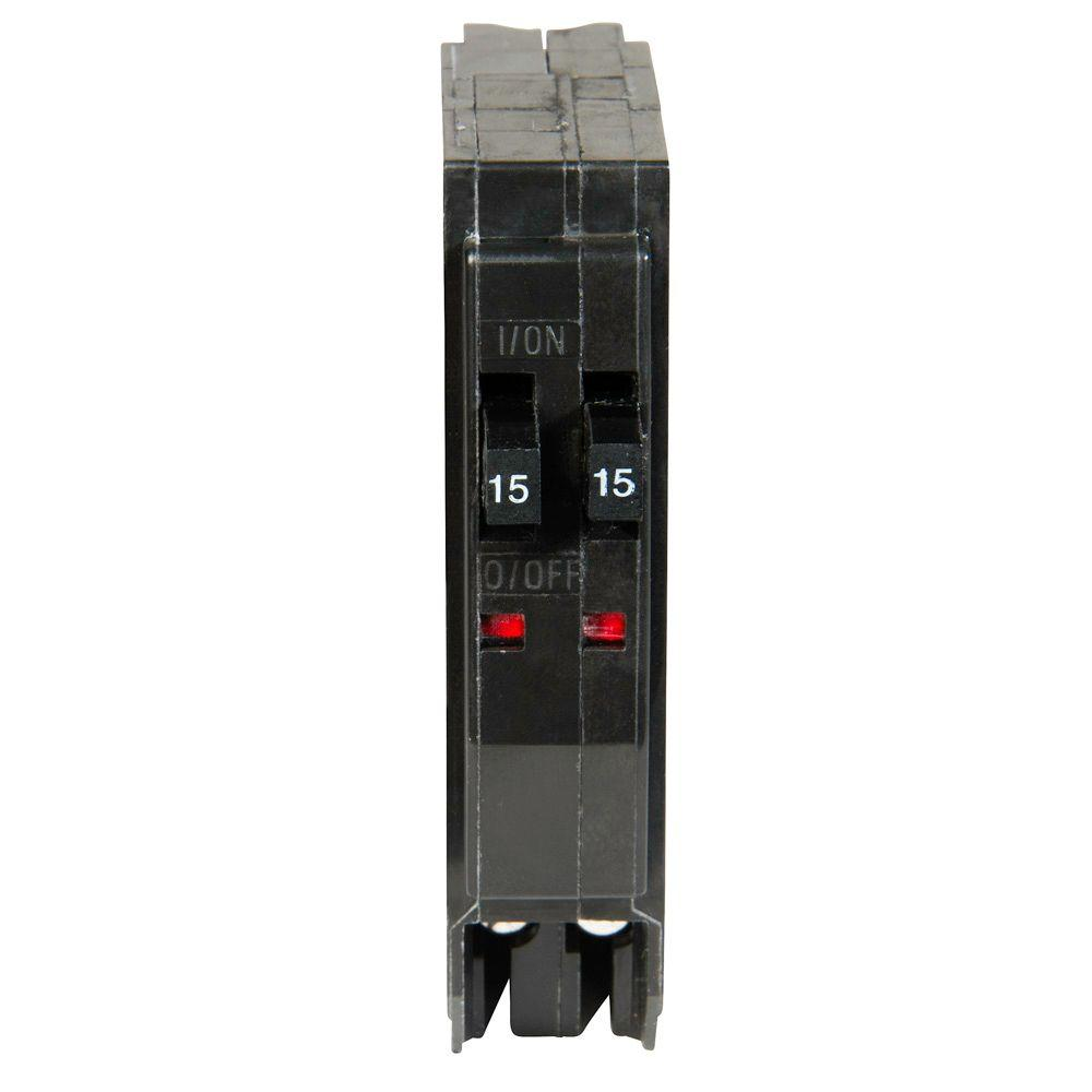 Square D QO 2 15 Amp Single Pole Tandem Circuit Breaker