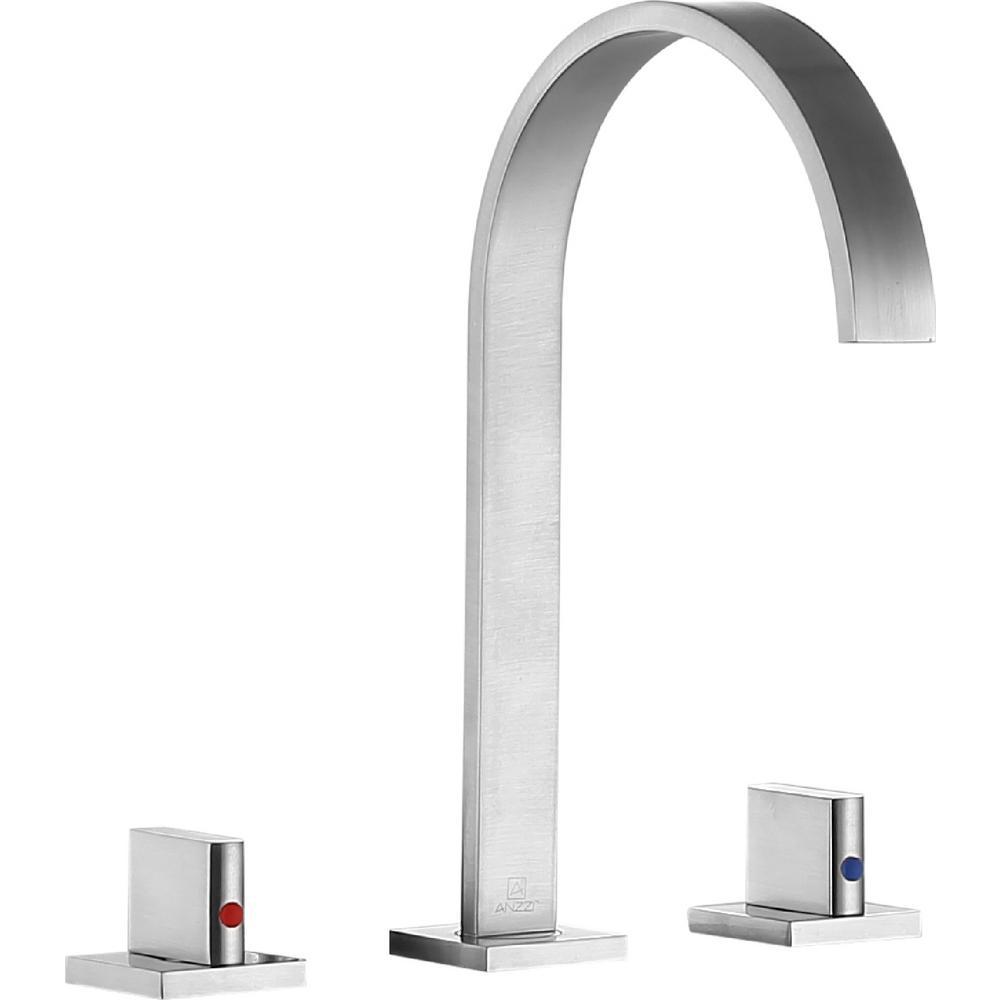 Sabre 8 in. Widespread 2-Handle Bathroom Faucet in Brushed Nickel