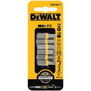 Dewalt 1 inch Steel Security Drill Bit Tip Set (6-Piece) by DEWALT