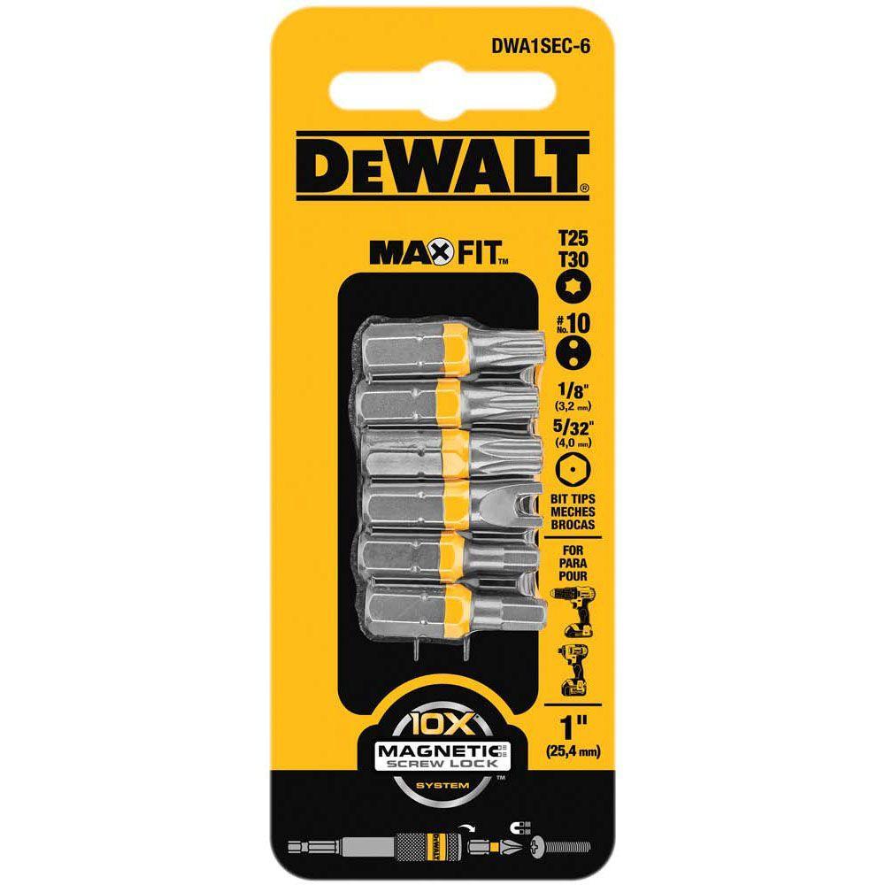 1 in. Steel Security Drill Bit Tip Set (6-Piece)