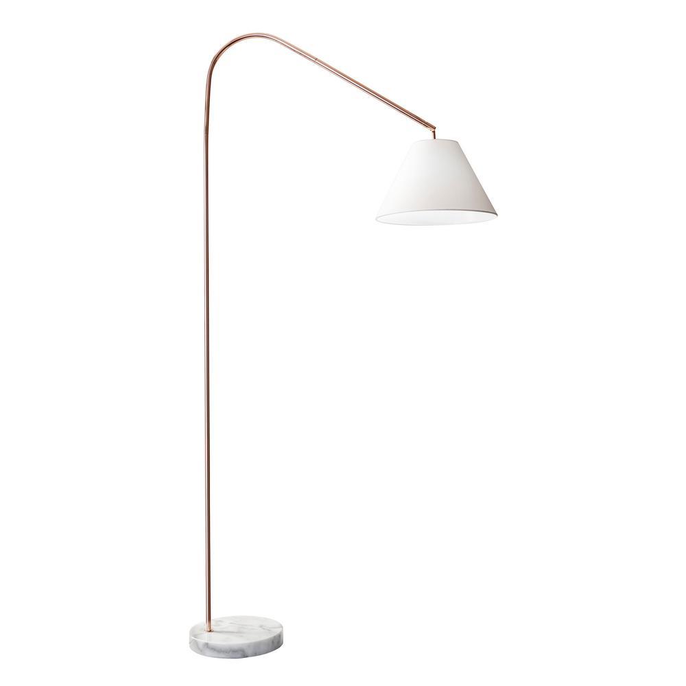 Bel Air Lighting 75 In Brushed Nickel Indoor Floor Lamp