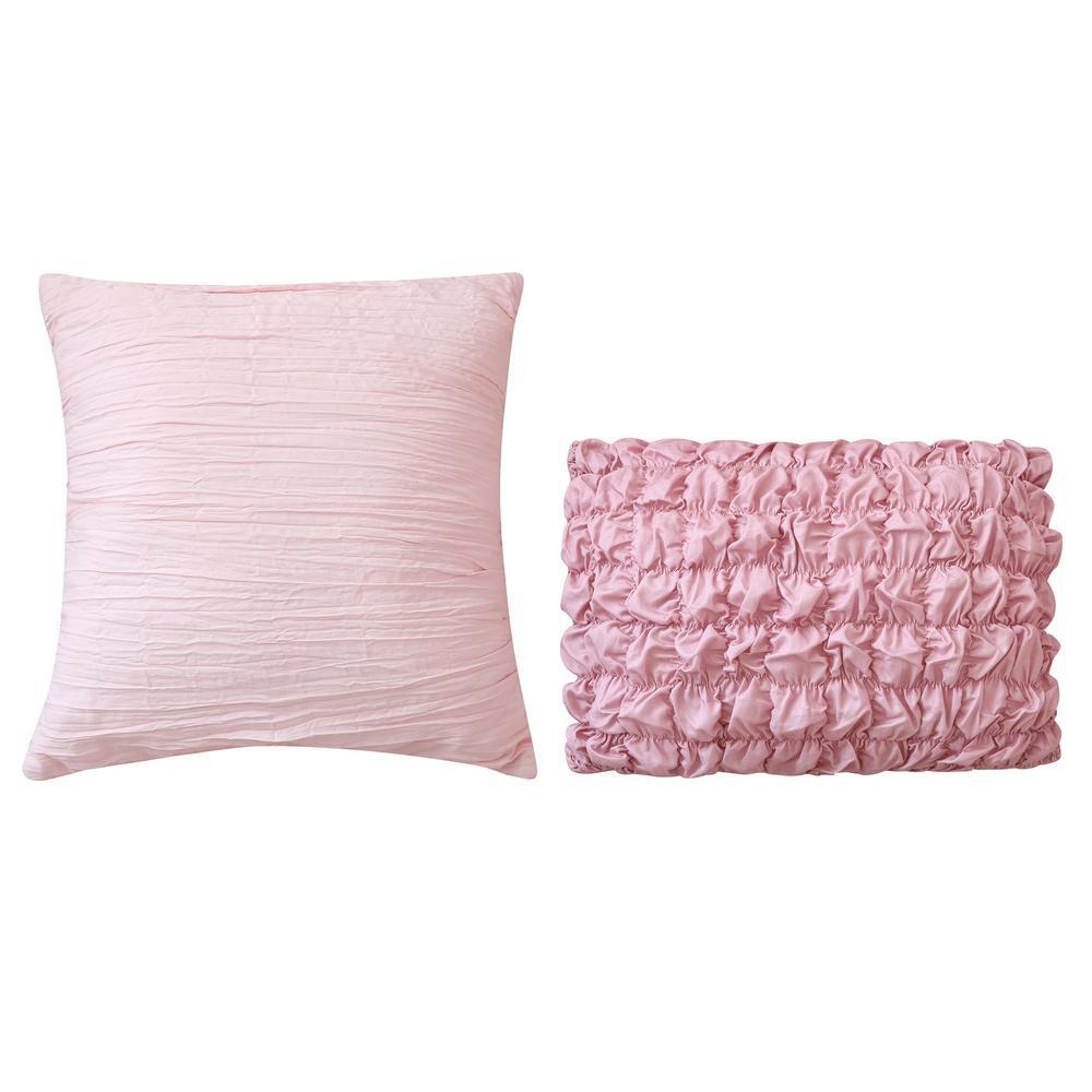 Blushing Rose Cotton Sateen Throw Pillow (Set of 2)