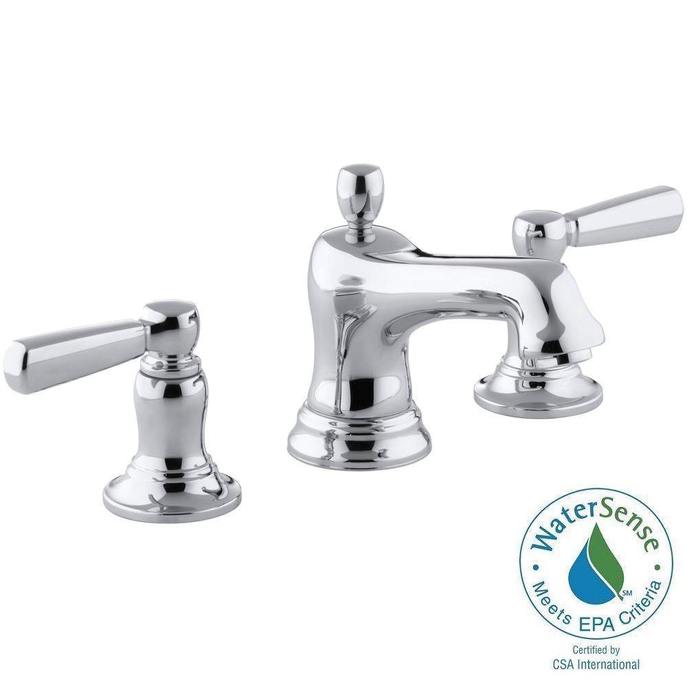 KOHLER Bancroft 8 in. Widespread 2-Handle Low-Arc Bathroom Faucet in Chrome