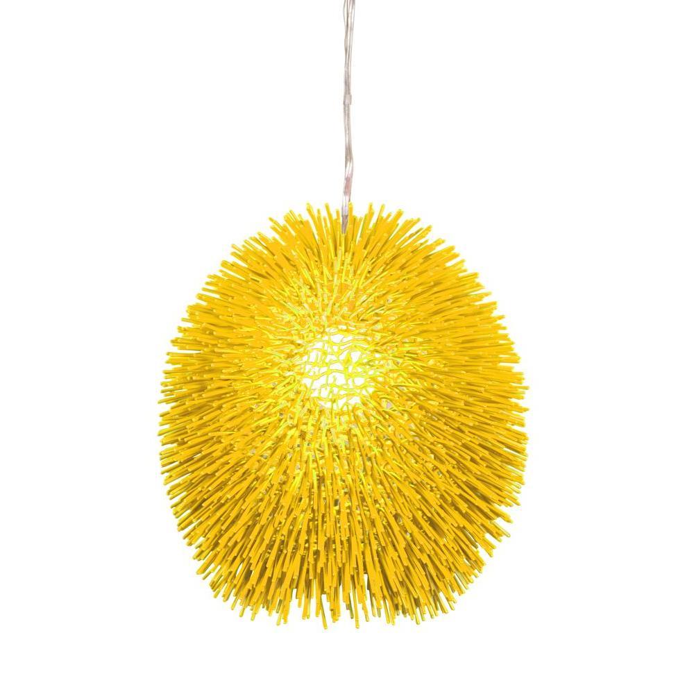 Varaluz Urchin 1-Light Un-Mellow Yellow Pendant