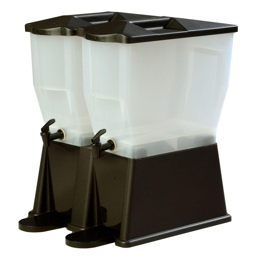 3 gal. Double Economy Reservoir and Trim Polypropylene Black Beverage Dispenser