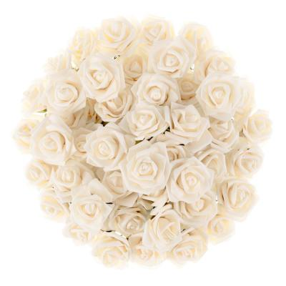 Artificial Rose Bundle in Cream (Set of 50)