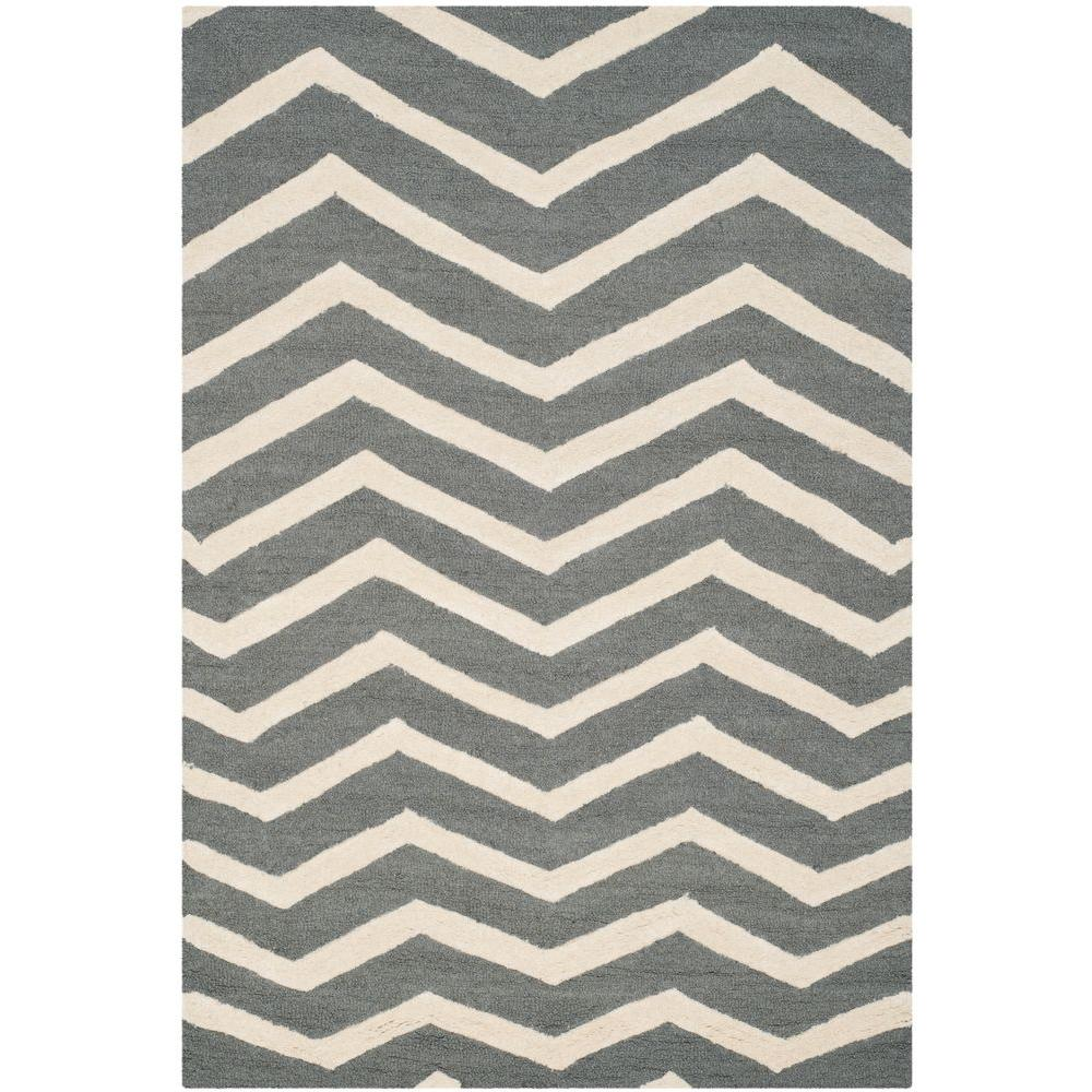 Safavieh Cambridge Dark Gray/Ivory 5 ft. x 8 ft. Area Rug
