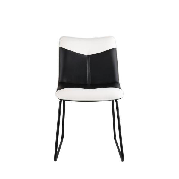 Acme Furniture Narcissus Black and White Leatherette, Black Accent Chair