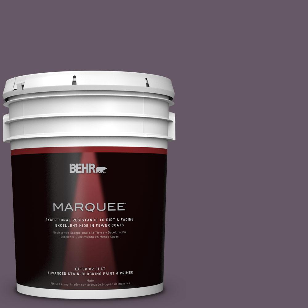 BEHR MARQUEE 5-gal. #PPU17-5 Preservation Plum Flat Exterior Paint, Purples/Lavenders