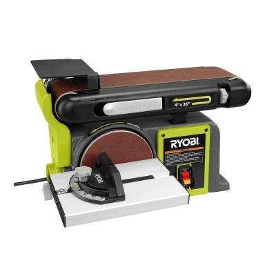 120-Volt Bench Sander, Green