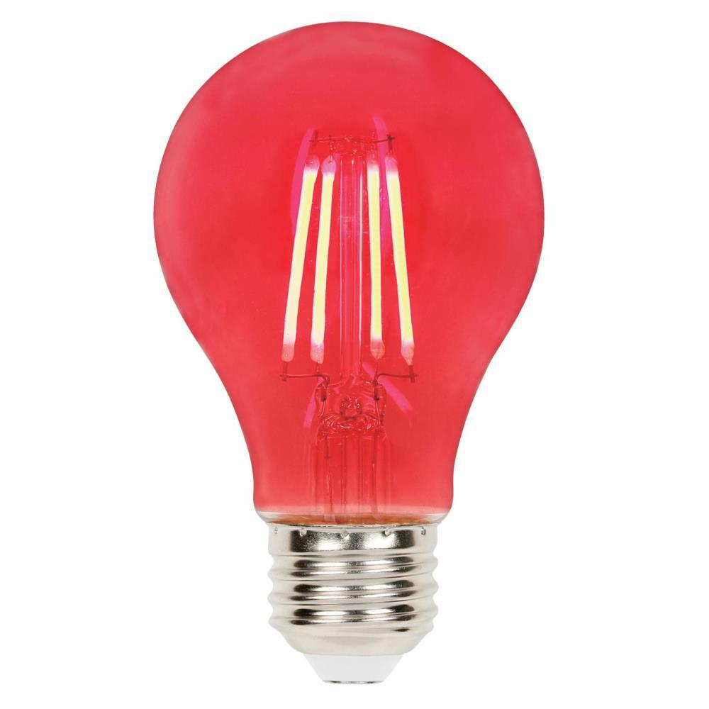 Home Depot Colored Light Bulbs: Westinghouse 40-Watt Equivalent A19 Dimmable Red Filament
