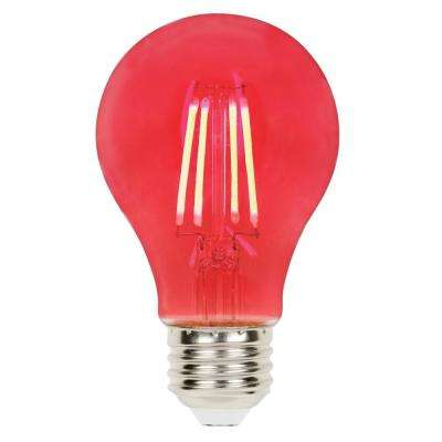 40 Watt Equivalent A19 Dimmable Red Filament Led