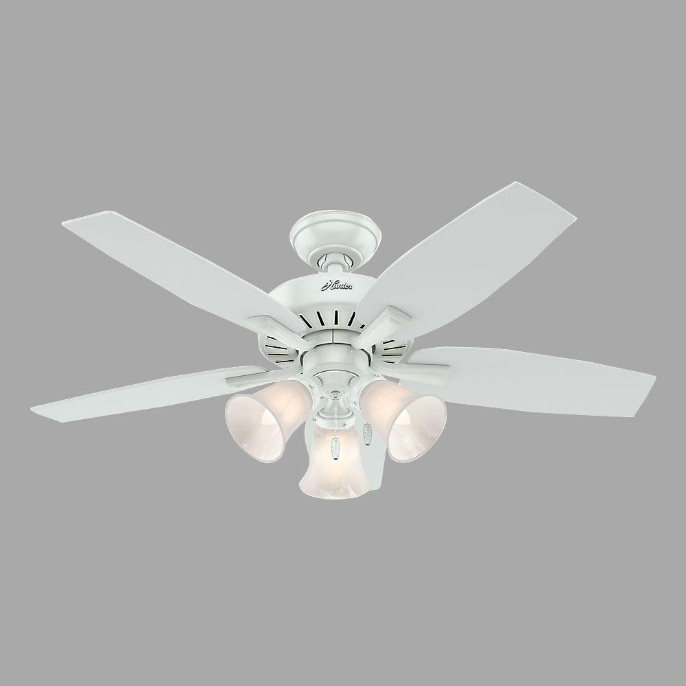 Hunter Hunter Atkinson 46 in. Indoor Fresh White Ceiling Fan with Light Kit
