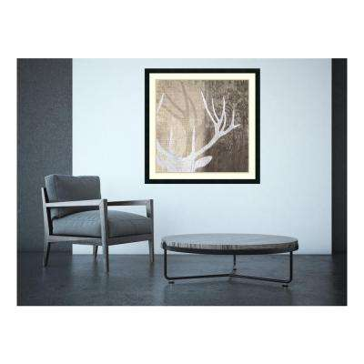 "34 in. H x 34 in. W ""Deer Lodge II"" by Tandi Venter Framed Art Print"