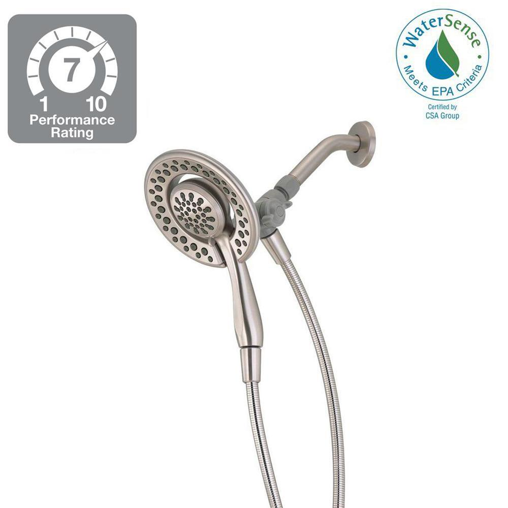 Delta In2ition 4-Spray 2-in-1 Hand Shower and Shower Head Combo ...