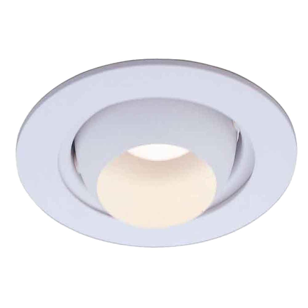Commercial Electric 4 in. White Recessed Eyeball Trim-HBR205WH - The ...
