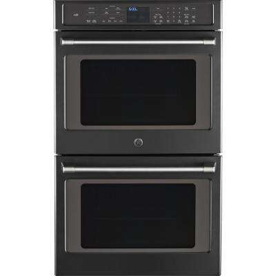 30 in. Double Electric Smart Wall Oven Self-Cleaning with Convection and WiFi in Black Slate