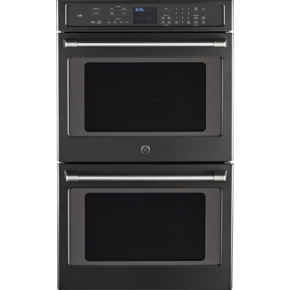 GE Cafe 30 in. Double Electric Smart Wall Oven Self-Clean...
