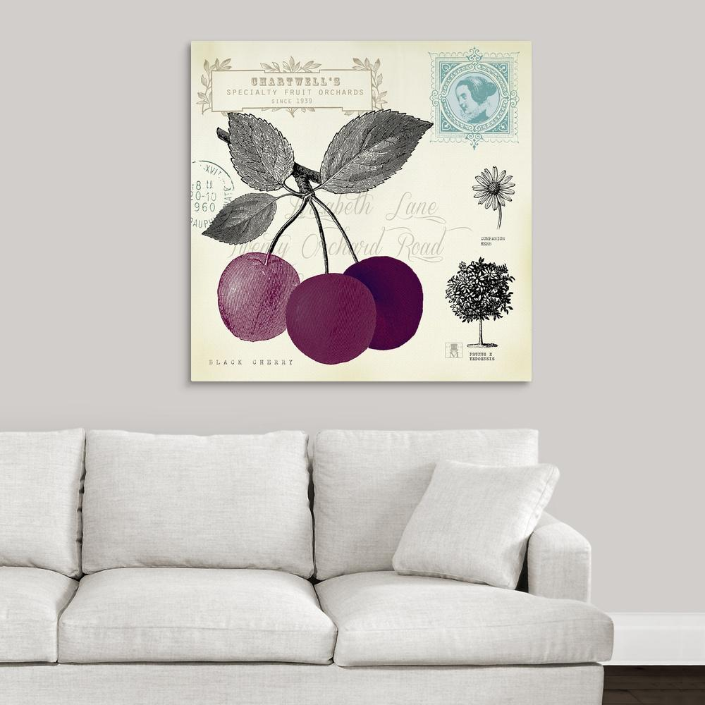 """Cherry Notes"" by Great BIG Canvas Canvas Wall Art"