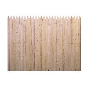 Barrette 6 Ft H X 8 Ft W Flat Rough Sawn Stockade Fence